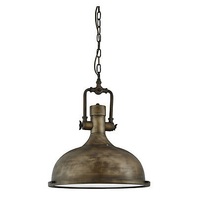 Black Gold Industrial Ceiling Pendant Light Fitting Frosted Diffuser Home Lights