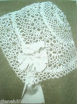 Baby Bonnet Hat Tatting Pattern Christening Hat