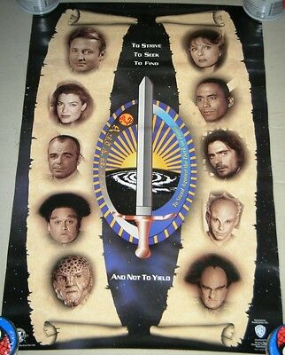 "BABYLON 5 Limited 1996 Official 13"" x 20 FAN CLUB POSTER - Features Cast & Motto"