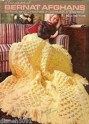 Afghans Knitting Crochet Pattern Book 13 Beautiful Afghan Patterns Great Picture