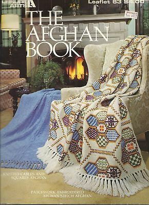 Afghan Pattern Book Knitting & Crochet 15 Afghans Lots Of Pictures