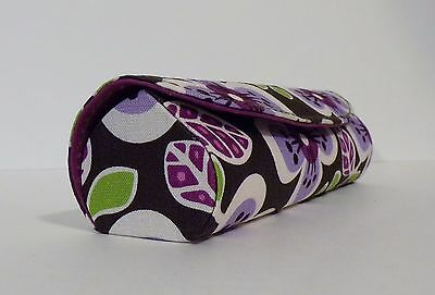 Vera Bradley Colorful Floral Design PLUM PETALS Reading / Eyeglasses Case