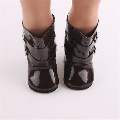 """Doll shoes for 18"""" American Girl Handmade brown boots shoes dolls b872"""