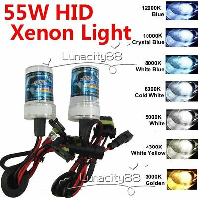 55W HID BI-Xenon Headlight Conversion KIT H/L BULBS H1 H3 H7 H8 9005 9006 9004