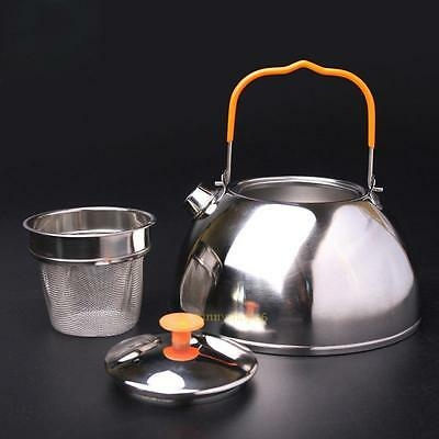 0.6L Stainless Steel Kettle Outdoor Camp Picnic Cookware Teapot Coffee Pot