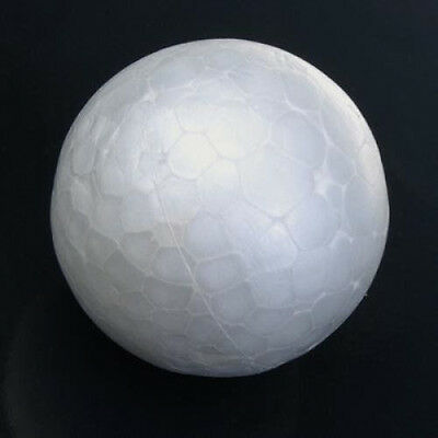 6cm 10 x White Modelling Craft Polystyrene Foam Ball  Christmas Party Decoration