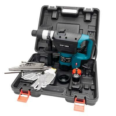 "1 1/2"" SDS Electric Rotary Hammer Drill Plus Demolition Variable Speed w/Bits US"
