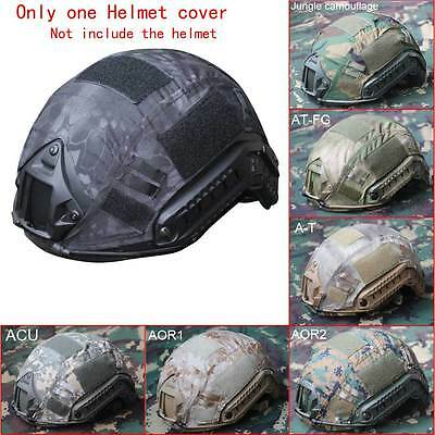 Outdoor Airsoft Paintball Tactical Military Gear Combat Fast Helmet Cover Canvas