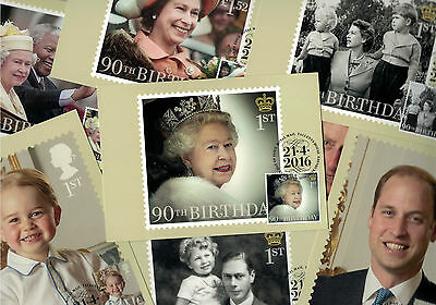 HM Queen Elizabeth 90th Birthday Franked PHQ Stamp Post Cards - 21.04.2016 T