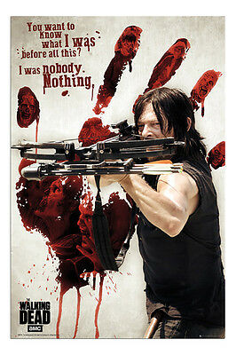 The Walking Dead Daryl Bloody Hand & Crossbow Poster - Maxi Size 36 x 24 Inch