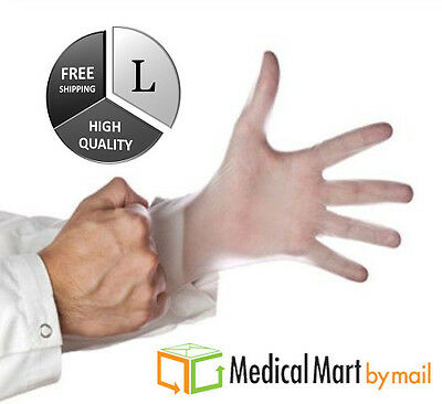 4000 Vinyl Disposable Medical Exam Gloves 5 Mil (Latex Powder Free) Size: Large