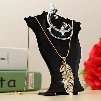 Modern Pendant Necklace Chain Earring Jewelry Bust Display Holder Stand Showcase