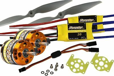 Torcster Antriebsset Brushless TwinStar II/BL Tuning Multiplex M