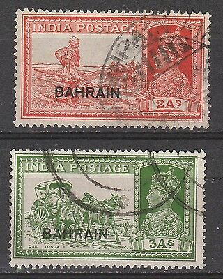 Bahrain 1938 Kgvi Pictorial 2A And 3A Used