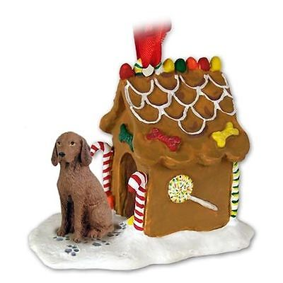 VIZSLA Dog Gingerbread House Christmas Holiday ORNAMENT