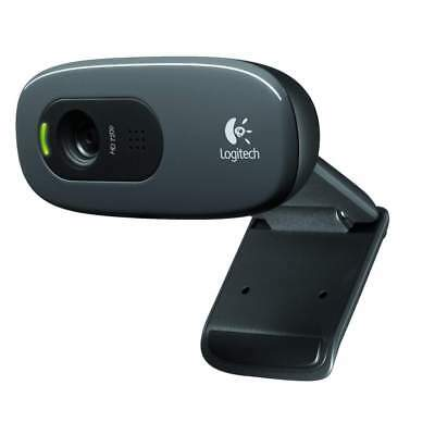 Logitech C270 HD 720p Webcam 1280x720 Video Calling 3MP Clip On USB 2.0 Calls