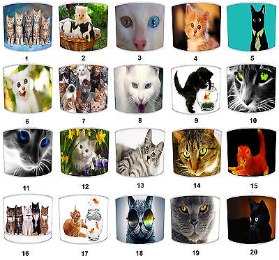 Lampshades Ideal To Match Cats Cushions Cats Wall Art Cats Duvets Cats Wallpaper • EUR 30,72