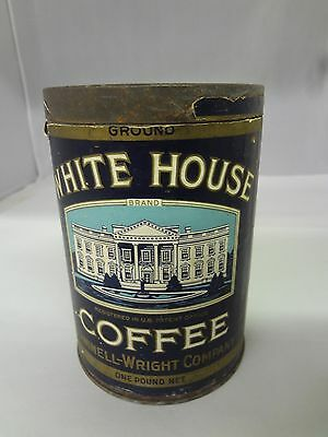 Vintage White House Brand Coffee Tin Advertising Collectible  Can  924-X