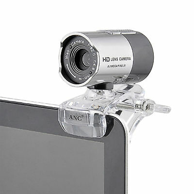 USB 2.0 HD Clip-On Webcam Camera With Microphone for Computer Facetime Youtube