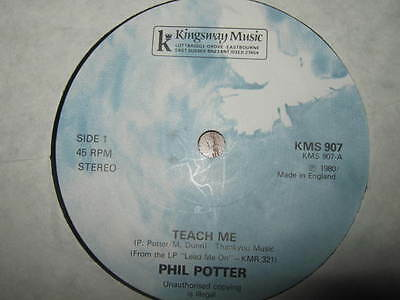 """Phil Potter """" Teach Me / Name Above All """" Rare 7"""" Single Kingsway Music 1980"""