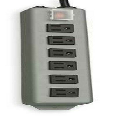 TRIPP LITE UL24RA-15 Outlet Strip, 15A, 6 Outlet, 15 ft, Gray 2MY54 (LS1719*S)