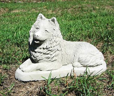 Concrete Samoyed Dog Statue / Monument