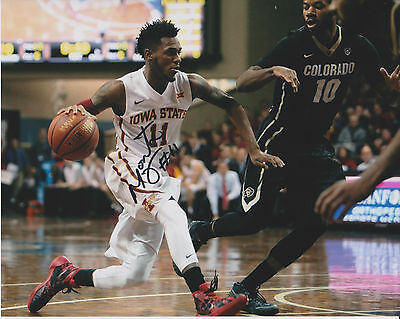 MONTE MORRIS Iowa State Cyclones Basketball SIGNED 8X10 Photo