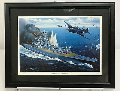 Last Voyage Of The Yamato Artist Signed & Numbered Framed Print