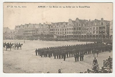 military postcard france soldiers arras