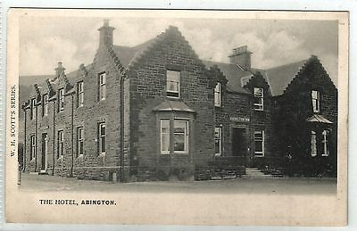 scotland scottish postcard abington inn hotel lanarkshire