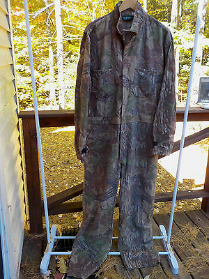 Gander Mountain Men XLT XL Tall 46-48 Camoflauge Hunting Coveralls Real Tree USA
