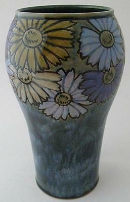 Very Attractive Royal Doulton Stoneware Vase With A Stylish Floral Design