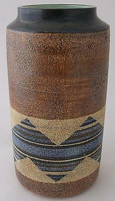 Stylish Troika Pottery Cylinder Vase By Alison Brigden (Senior Decorator)