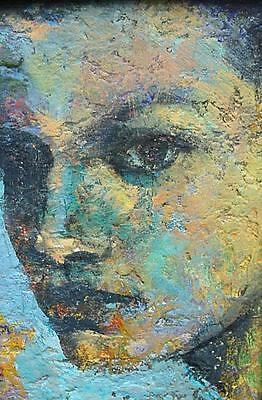 Nick Williams Original Painting - Female Portrait (Modern British / Cornish Art)