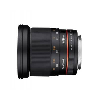 Samyang 20mm f1.8 ED AS UMC Lens for NIKON AE GARANZIA FOWA 5 ANNI