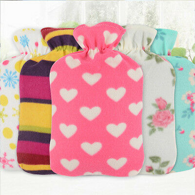 1x Washable Hot Water Bag Flannel Cloth Cover Heat Anti-scald Anti-dirty Random