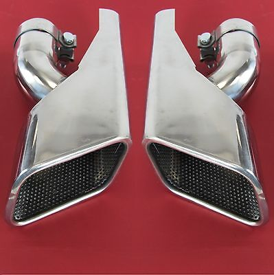 stainless HST Exhaust tips RangeRover SPORT supercharged Diesel tailpipe stormer