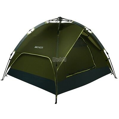 Instant Camping Tent 4 Man Person Family Pitch Pop Up Waterproof