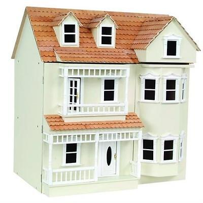 Exmouth Ready To Assemble 1:12 Scale Dolls House Kit  Painted Cream