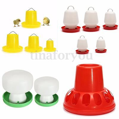 Variety Poultry Chicken Fowl Feed Drinkers Birds Feeder Water Drinking Cups