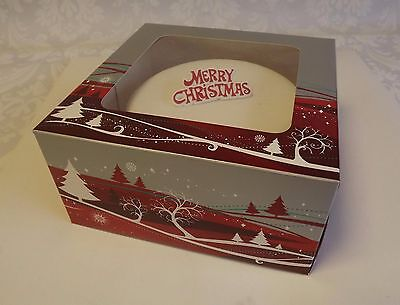 "PACK of 10 Christmas Design 10"" Gateaux Cake Boxes - cake  boxes"