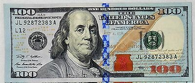 $100 Dollar Bill, Fed Reserve Note, Series 2009 or 2009A, Fast Shipping!