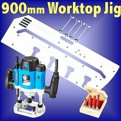900mm Kitchen Worktop Jig 1500w Router cutter bit set bolts template bedroom
