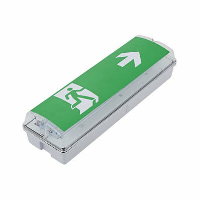 LED Green Square Maintained Fire Exit Door Sign Hazard Safety Emergency Escape