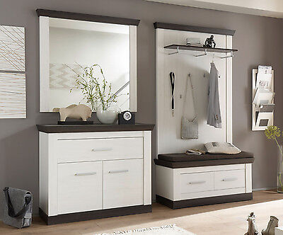 garderobe garderoben set flurgarderobe dielen set 5 teilig. Black Bedroom Furniture Sets. Home Design Ideas