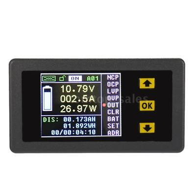 DC 120V 100A LCD Wireless Digital Voltage Current Capacity Watt Power Meter O2O1