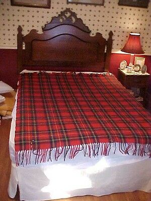 Vintage Pendleton Wool Blanket, Red Plaid, #74960