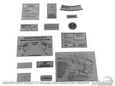 1966 Ford MUSTANG - 14 Piece Detail Decal Kit - Ford Licensed!