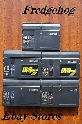 5 x MAXELL DVM60 MINI DV VIDEO CAMCORDER TAPES/ CASSETTES - EXCELLENT QUALITY