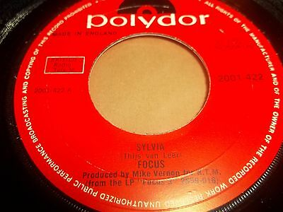 """Focus """" Sylvia / House Of The King """" 7"""" Single Excellent Prog Rock 1972"""